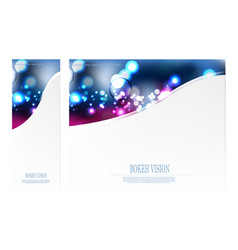 abstract bokeh vision pick design template vector image vector image
