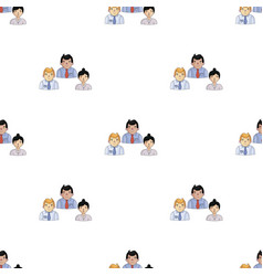 Business partners icon in cartoon style isolated vector
