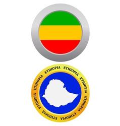 button as a symbol map ETHIOPIA vector image