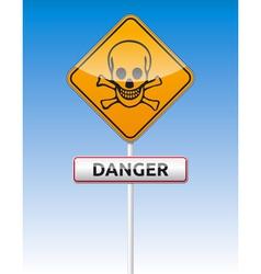 Danger skull traffic vector image