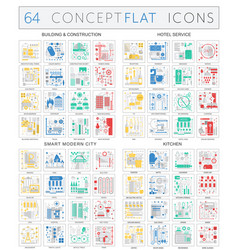 infographics concept icons of building vector image