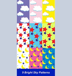Sky patterns vector image vector image