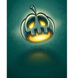 terrible jack-o-lantern head vector image