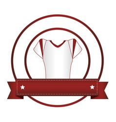 circular frame with shirt american football vector image