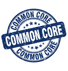 common core blue grunge stamp vector image vector image