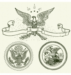 eagle ornaments vector image vector image