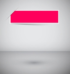 Empty Frame Template - Pink Label on Abstract 3d vector image vector image