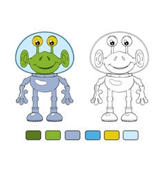 Funny cartoon alien in spacesuit vector image vector image