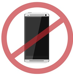 No smartphone vector image vector image