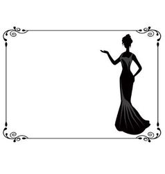 Retro woman in the frame vector image vector image