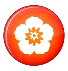 Rose of sharon korean flower icon flat style vector