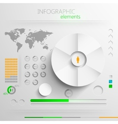 set of abstract paper infographic elements for vector image vector image