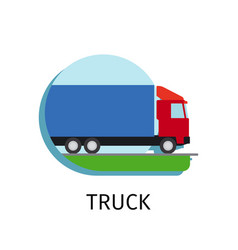 truck transport in flat style vector image