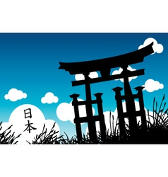 japanese style vector image