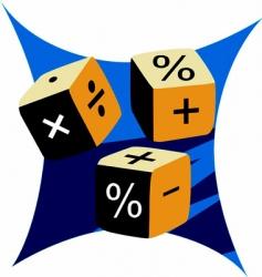 mathematical cubes vector image