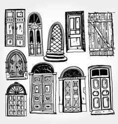 old doors vector image vector image