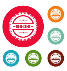 rejected logo simple style vector image vector image