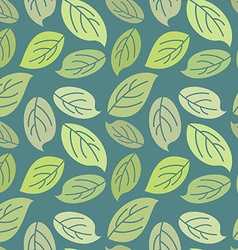 Seamless leaves background Vintage pattern for vector image vector image