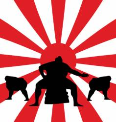 sumo fighting vector image vector image