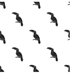 toucan icon in black style isolated on white vector image