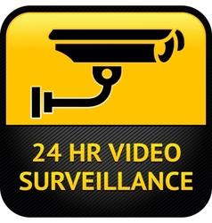 Video surveillance sign cctv sticker vector image vector image