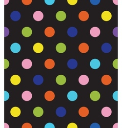black polka dot seamless pattern vector image