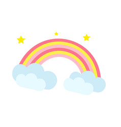 rainbow icon cartoon style isolated on white vector image