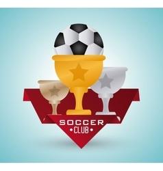 Soccer club design vector image vector image