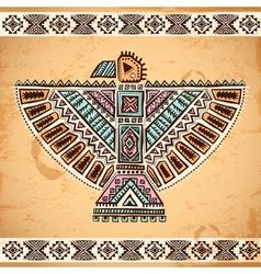Tribal native American eagle symbols vector image vector image