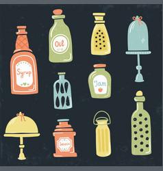 vintage jars vector image vector image