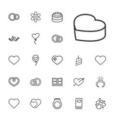 22 wedding icons vector