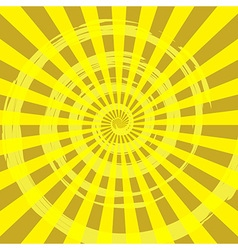Abstract Burst Ray Background Yellow vector image