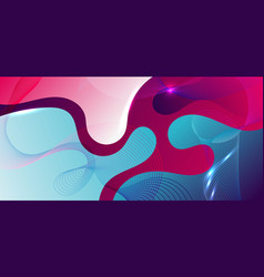 abstract fluid shape blue and pink gradient vector image