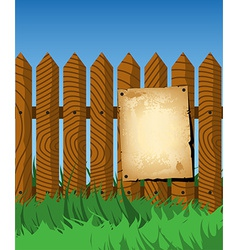 Aged poster on the fence vector image