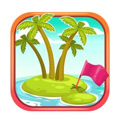 app icon with uninhabited island vector image