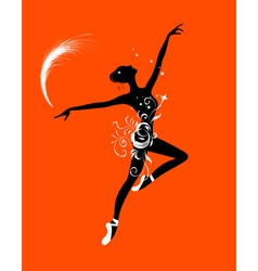 Ballet dancer for your design vector