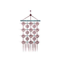 Beautiful macrame wall hanging handmade item vector