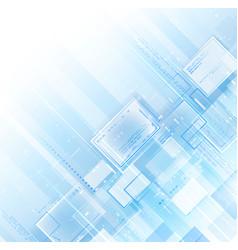 blue light tech background vector image