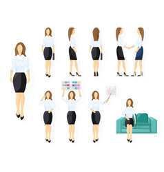 business woman character design set woman with vector image