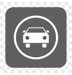 Car Rounded Square Button vector image