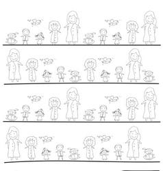 cartoon concept happy people vector image