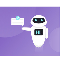chat bot bot holds speech bubbles vector image