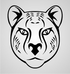 Cheetah Head Tribal vector