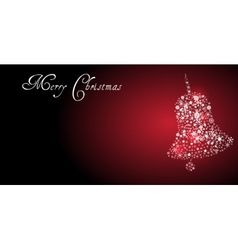 Christmas red banner vector image