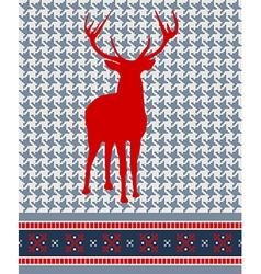 Christmas reindeer seamless pattern vector