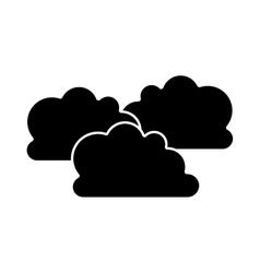 Cloud shape icon vector