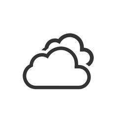 Clouds icon vector