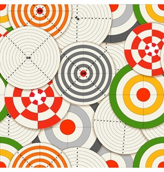 Colorful targets seamless background vector