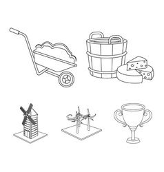 Company ecology and other web icon in outline vector