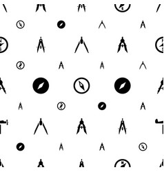 Compass icons pattern seamless white background vector